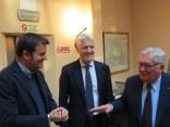 Il Ministro Centinaio con il Presidente e il Condirettore di Est Sesia