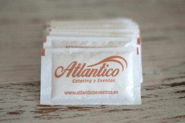 Sobres de azúcar de Atlántico Eventos