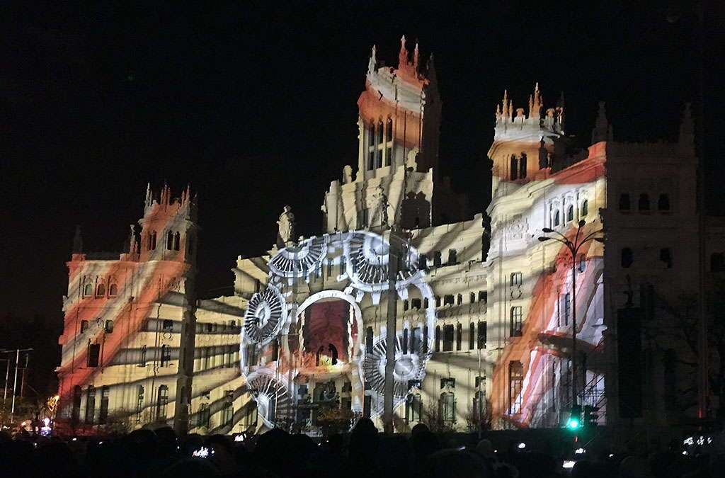 Ayuntamiento de madrid luces nocturnas