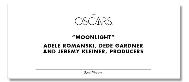 Diseño Actual Tarjeta Oscars 2017