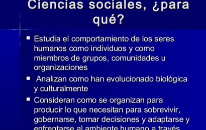 Definición de la Ciencias Sociales -1