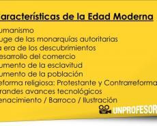Características de la Edad Moderna