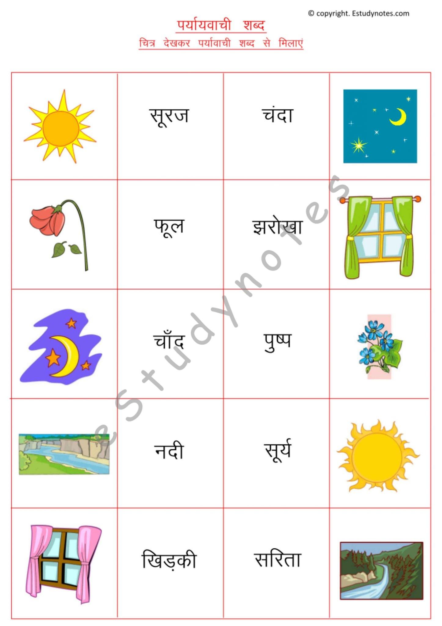 Sanyukt Akshar And Synonyms Grade 2 Hindi Grammar
