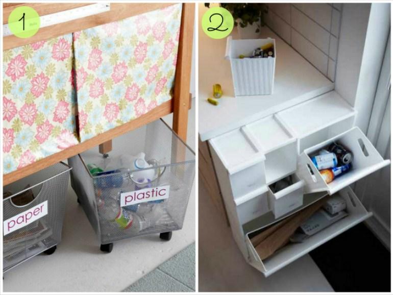 Zona de reciclaje en casa, ideas reciclaje, zona reciclar, inspiracion reciclaje en casa