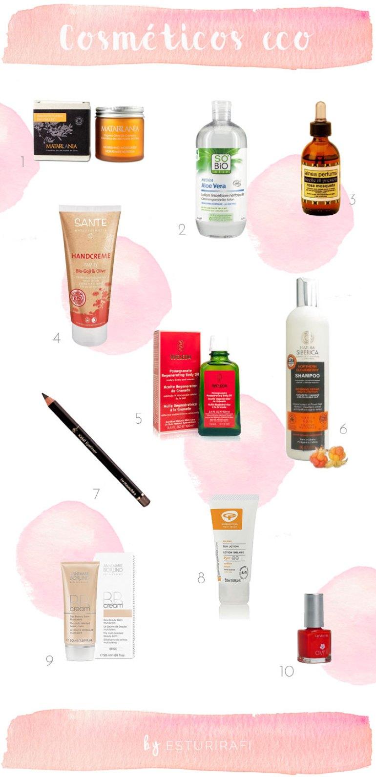 Nuestros cosméticos ecológicos
