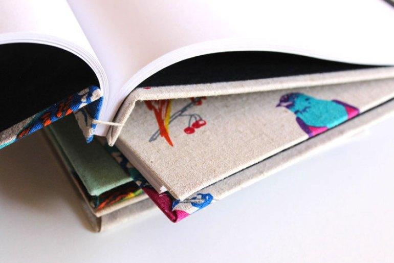 detalle cuadernos ecológicos hechos a mano