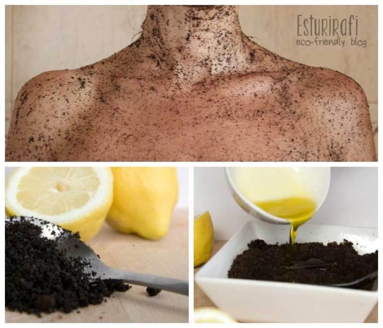 Exfoliante casero de café, coffee body scrub