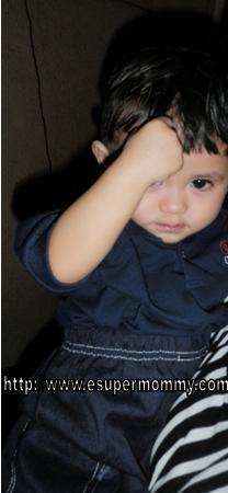 Cute Filipino toddler boy