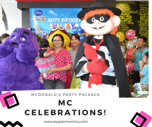 Mc Donalds Party Package Philippines
