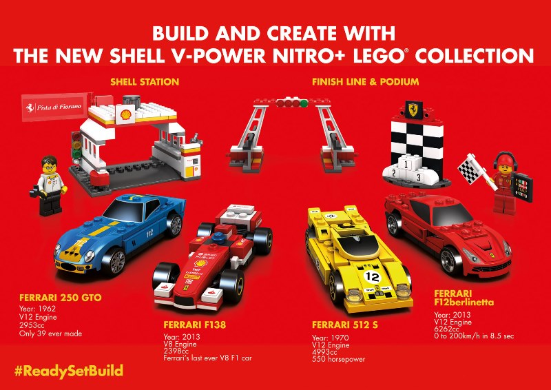 Shell V-power Nitro+ Lego collection