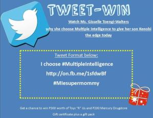 Watch, Tweet-Win I Choose Multiple Intelligence Promo Week 10