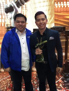 The Voice of the Philippines Season 2 Winner with Brother Philippines President