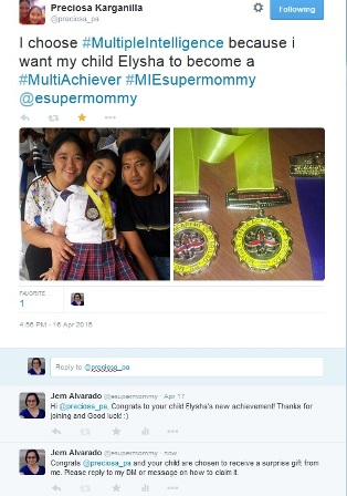 April Surprise Gift Winner - Mommy Precious