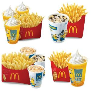 Mc Donald's Minions-themed Desserts and Combos