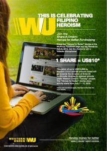 Western Union Share a Dream Fund Raising Campaign