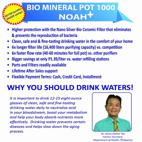 Water Purifier Mineral Pot BMP 1000 Noa+