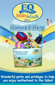 EQ Baby Club Membership Card Newest Offering