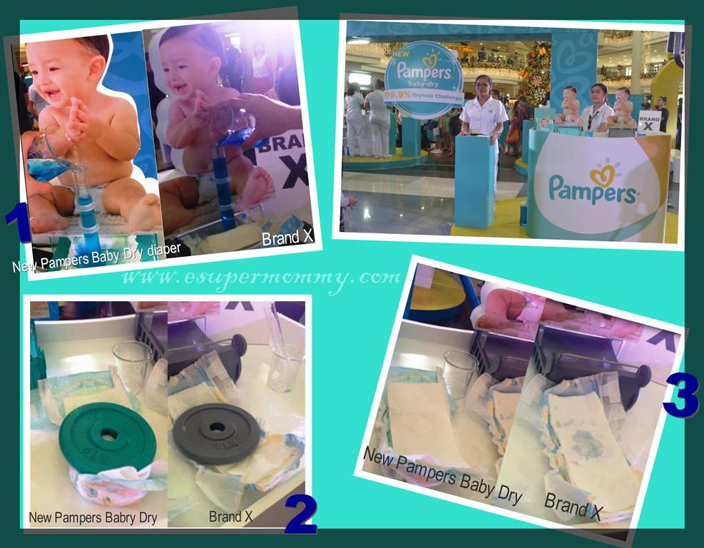 Results in the New Pampers Baby Dry 99.9% Dryness Challenge