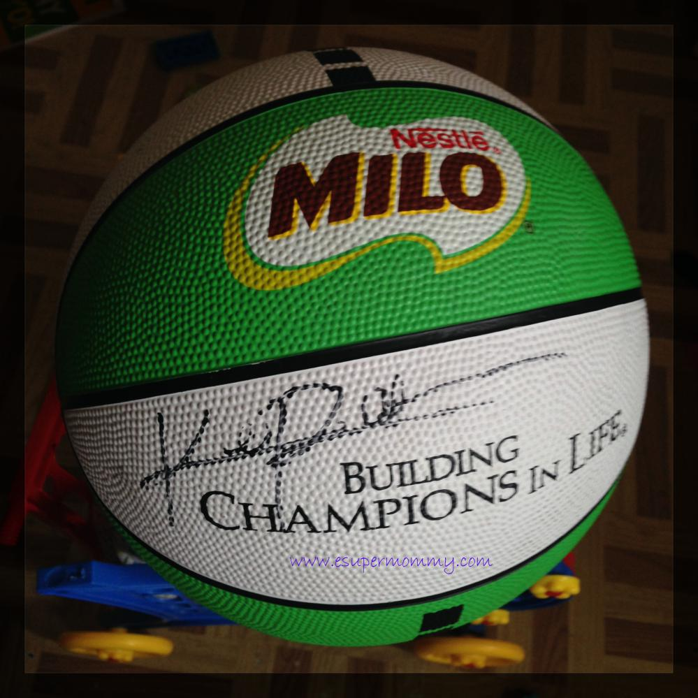 Milo Basketball with Kiefer Ravena's signature