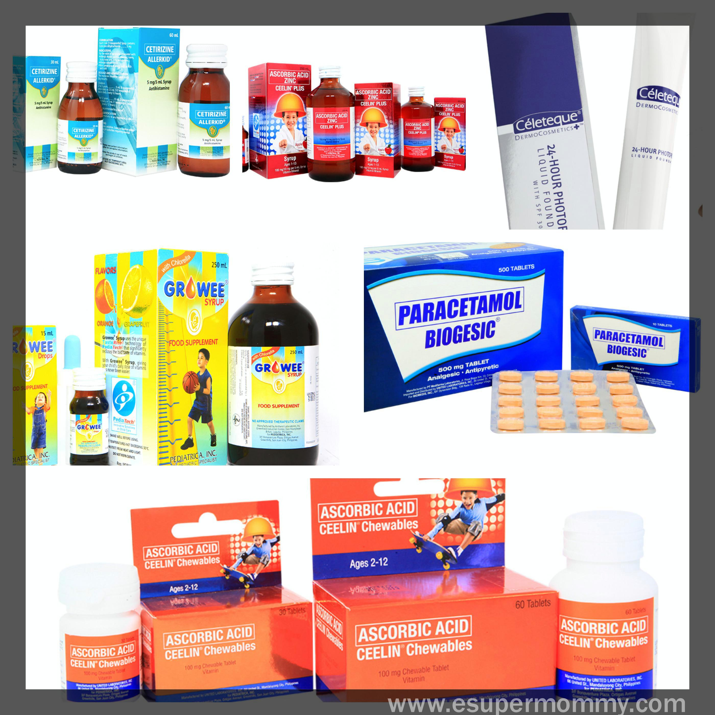5 UNILAB Products my family use
