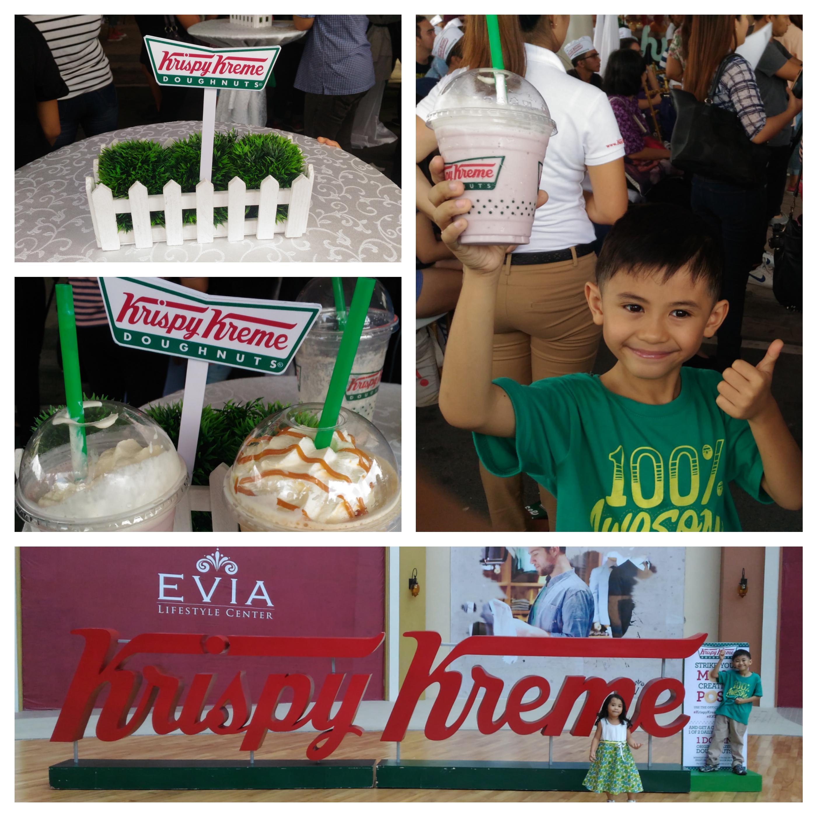 Krispy Kreme Evia with Mommy Jem's kids