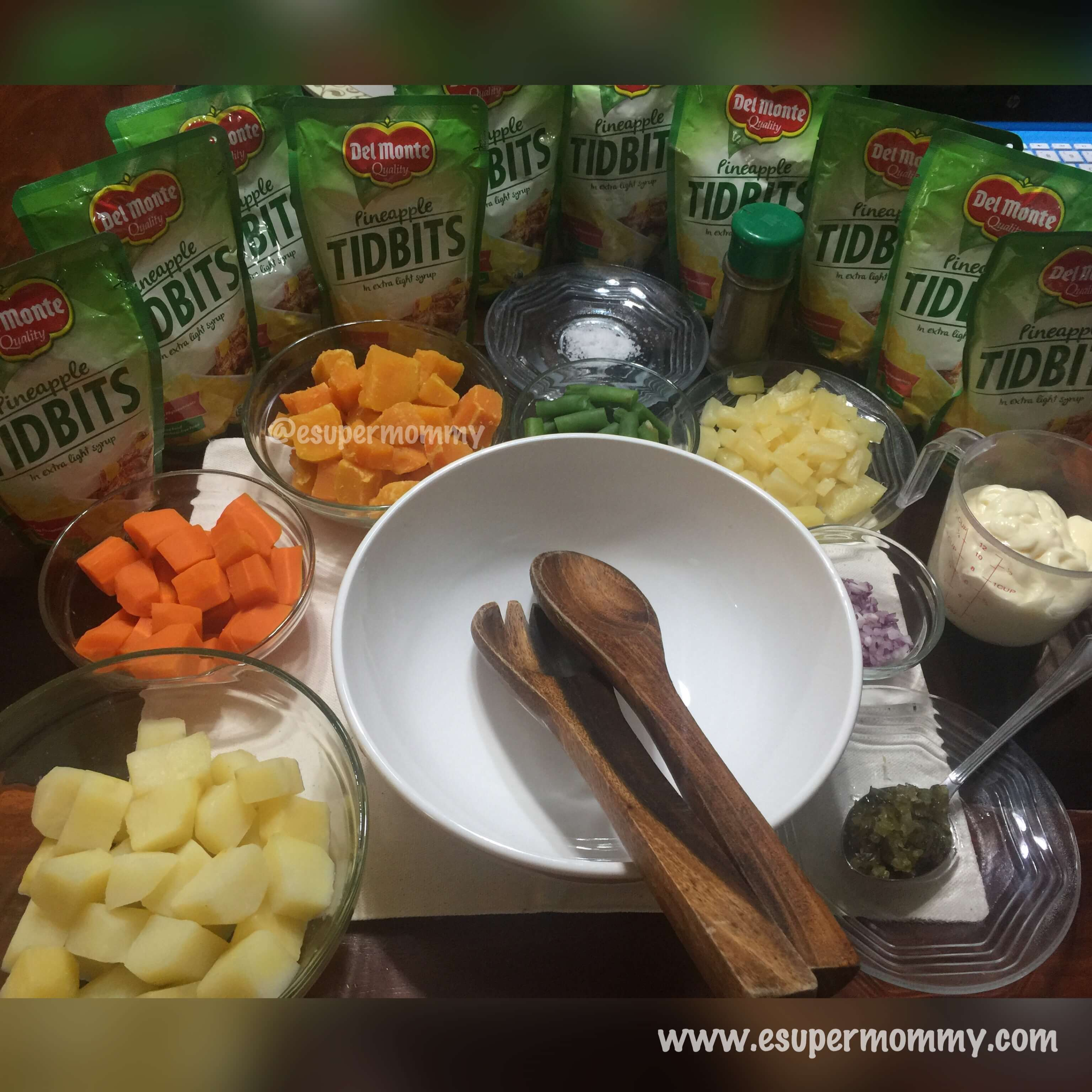 Del Monte Pineapple Potato Salad Ingredients