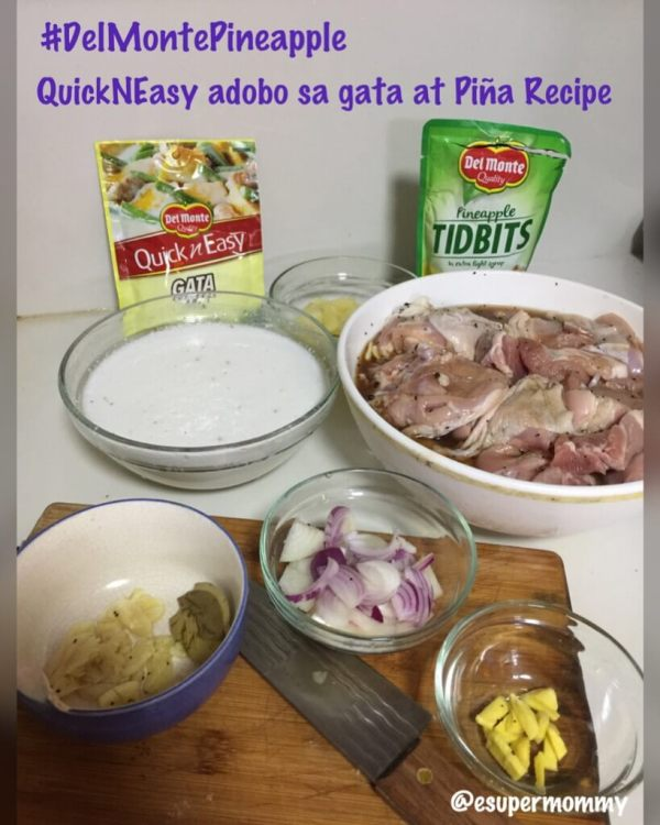 Quick N Easy Adobo sa gata at Piña Recipe