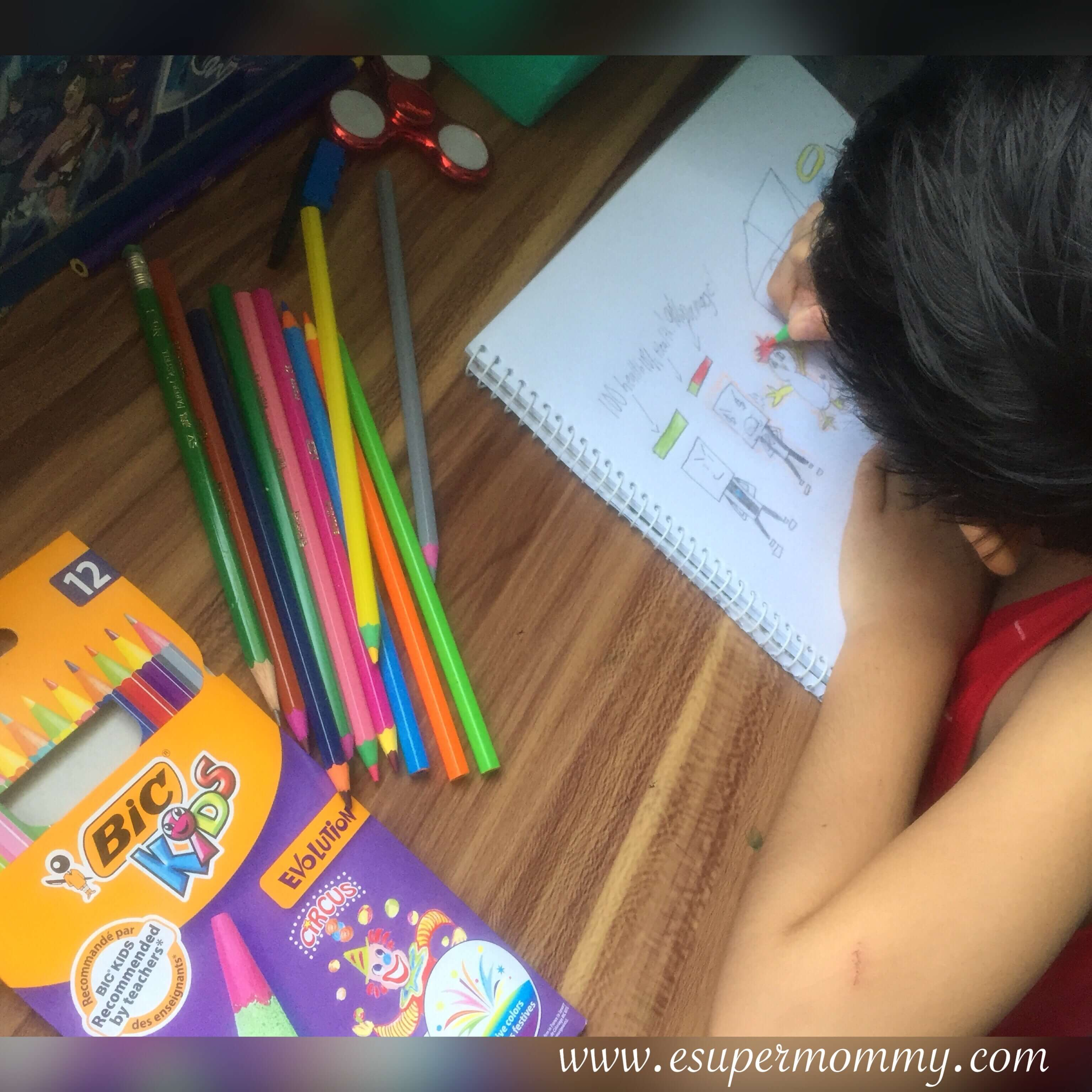 BIC Kids' word-free evolution