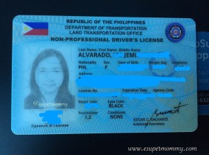 LTO Drivers License 2018