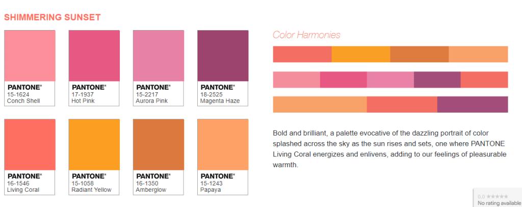 Pantone-Living-Coral-Shimmering-Sunset