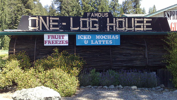 A house built from one log called one log house.
