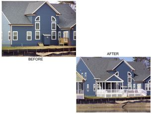 Before and After Covered Porch and Deck