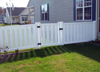Bethany Vinyl Semi-Private Fence