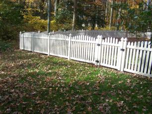 Irvington Arch Vinyl Picket Fence
