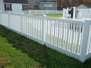 Shelly II Vinyl Closed Rail Fence