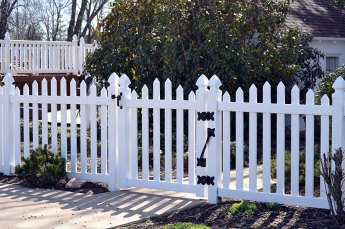 Virginia Arch Vinyl Picket Fence