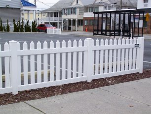Virginia Straight Vinyl Picket Fence