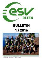 ESV Olten Bulletin 1/2016