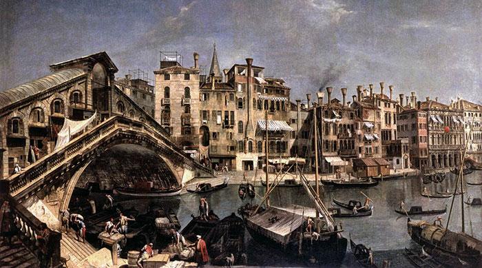 Le Pont du Rialto à l'époque d'Albinoni
