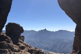 Blick auf den Roque Bentayga in Gran Canaria