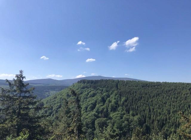 Ausblick auf den Brocken vom Ilsetal