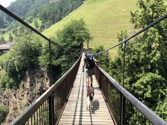 Luftige Hängebrücke Südtirol