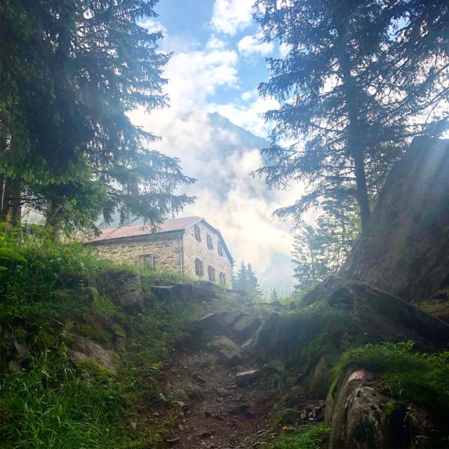 Hochganghaus auf der Rundtour Spronser Seen