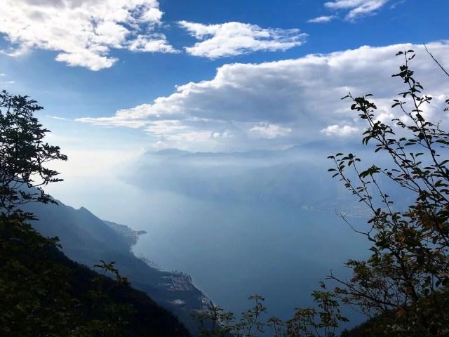 Blick vom Monte Baldo auf Malcesine