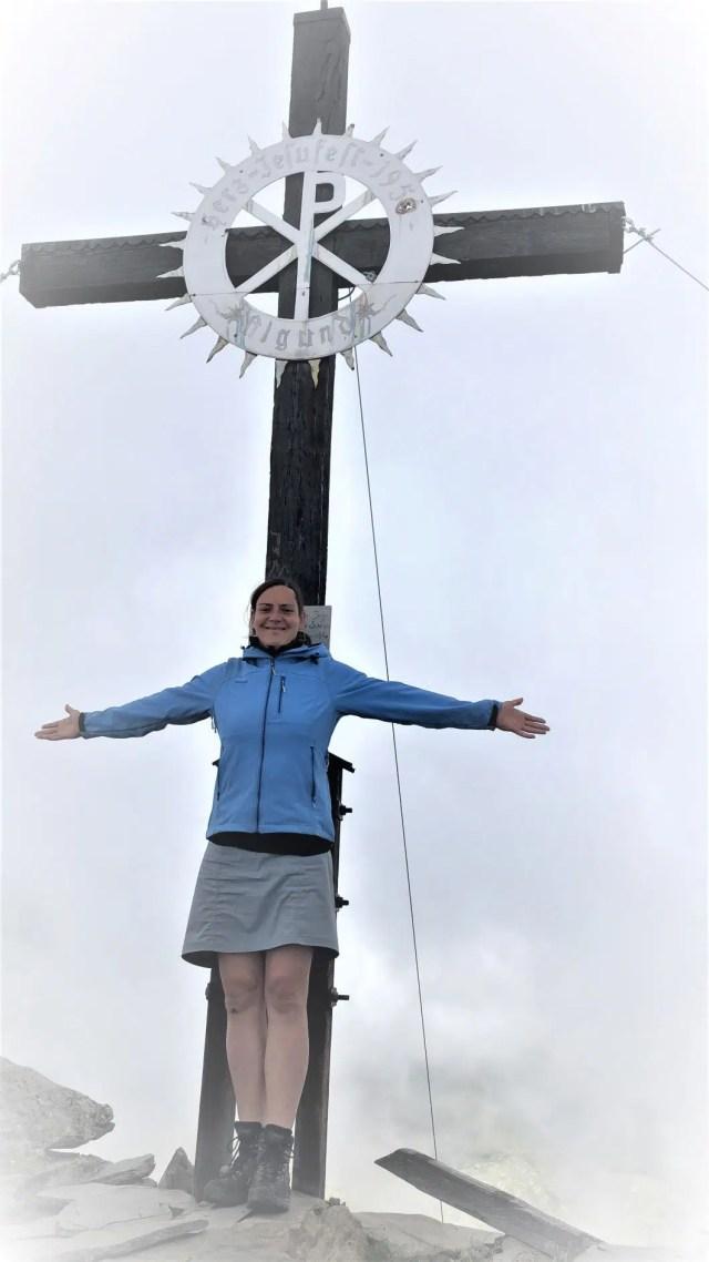 Gipfelkreuz beim Wandern