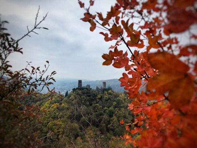 Herbstlicher Blick auf Burg Thurant