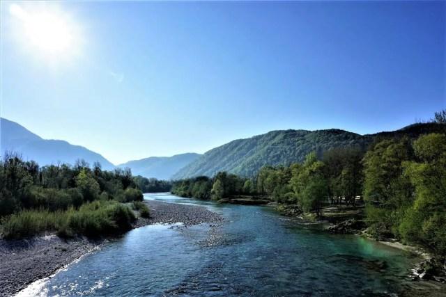 Soca, noch in Slowenien
