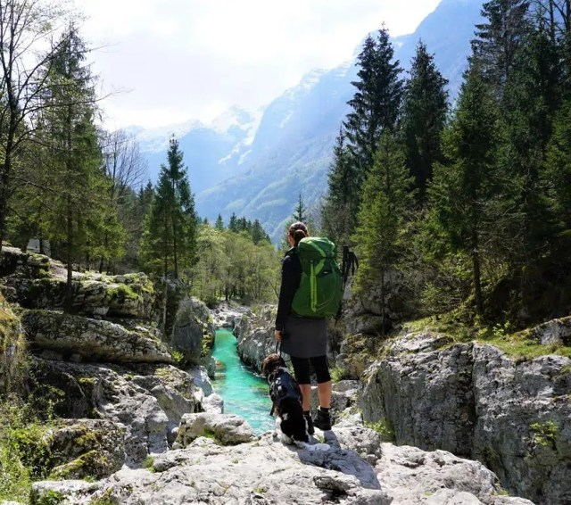 Soca auf dem Alpe Adria Trail