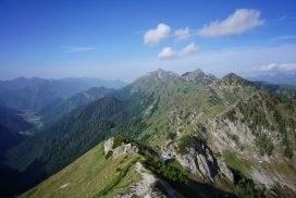 Bergpanorama beim Wandern