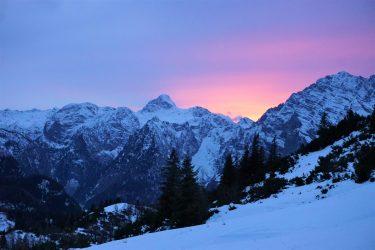 Alpen Sonnenuntergang
